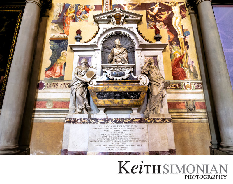 Tomb of Galileo Galilei in Santa Croce church Florence