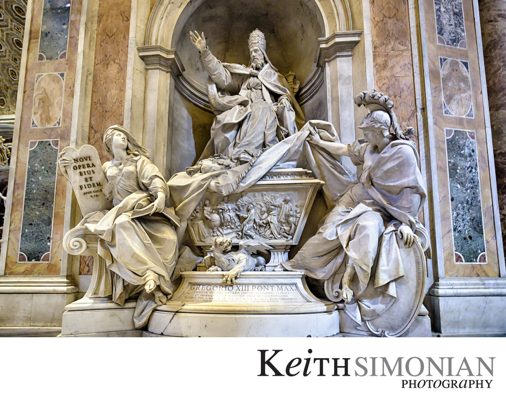 Monument to Gregory XIII - St Peter's Basilica - Rome