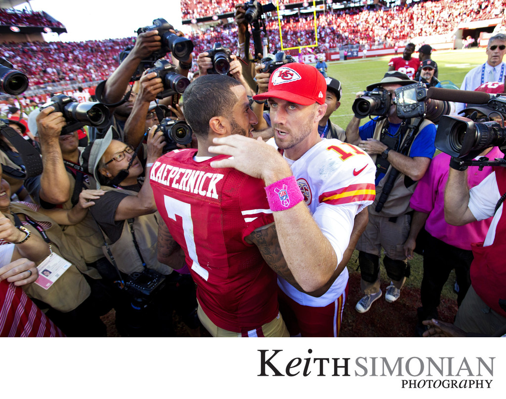Alex Smith - Colin Kaepernick meet after Chiefs vs 49ers