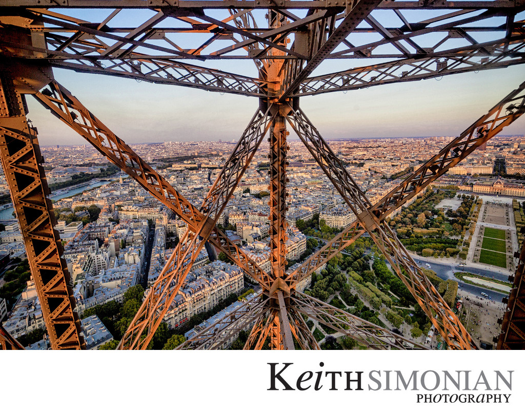 Eiffel Tower view from Elevator