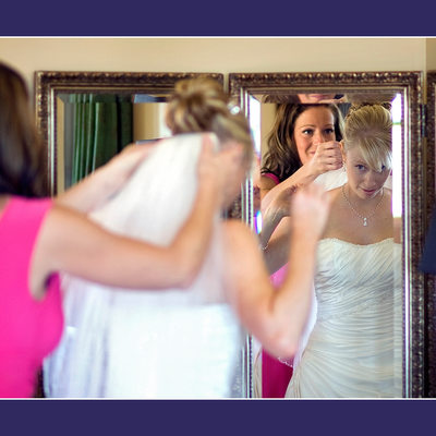 Maid of Honor Adjusting Brides Veil