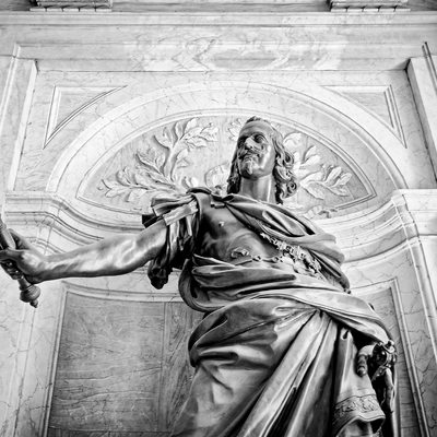 King Philip IV of Spain statue in Santa Maria Maggiore