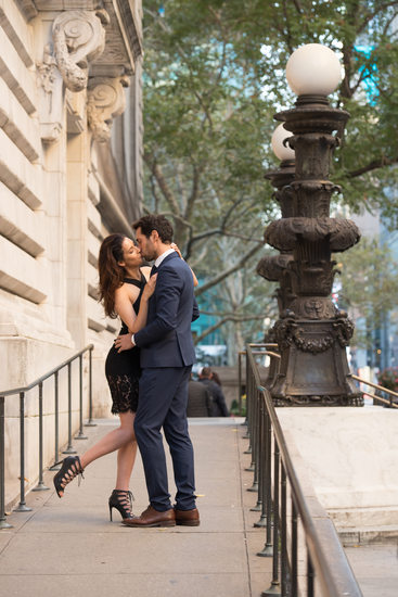 Engagement pictures at the New York public library NY