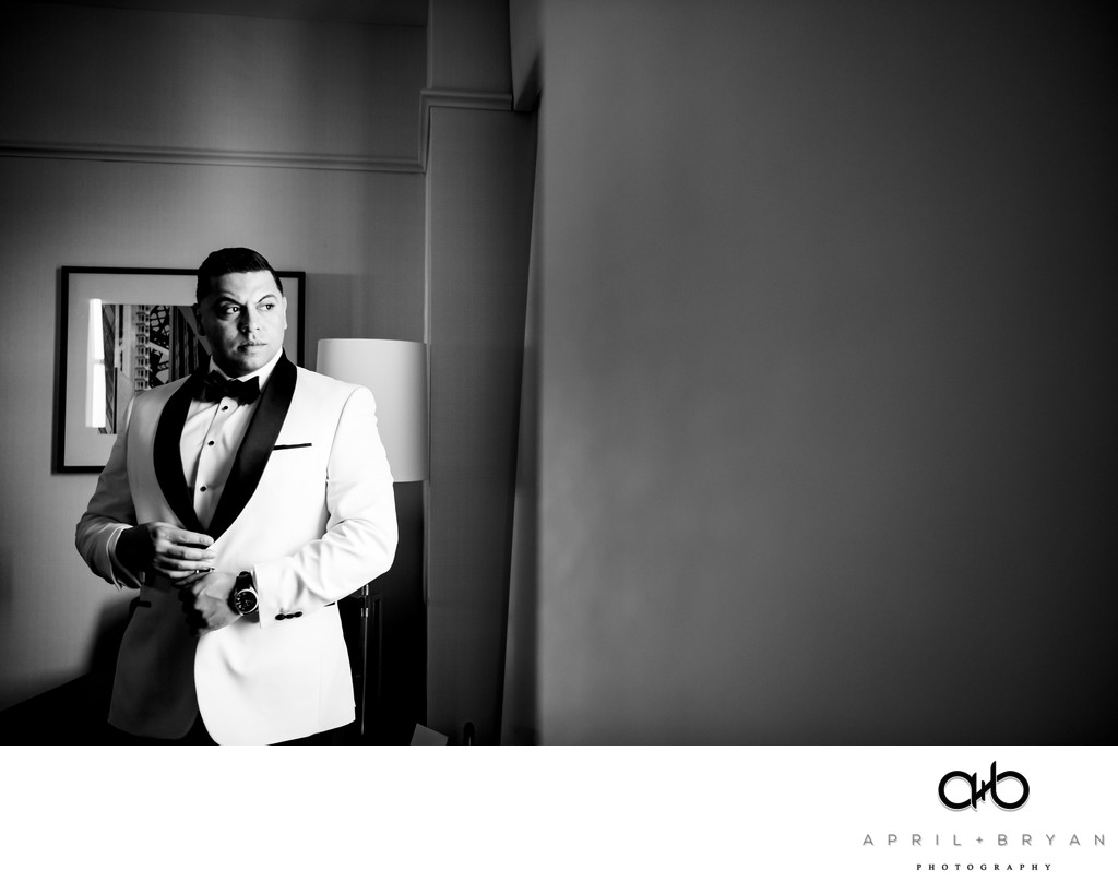 Groom Getting Ready At The Lowes Hotel
