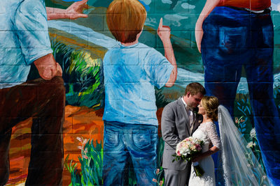 Bride and Groom At The Danville Mural
