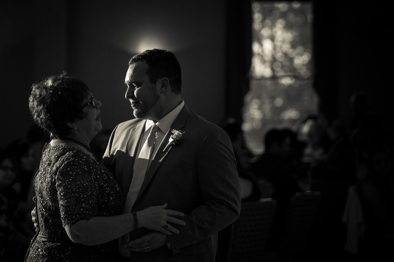 Belhurst Castle Wedding emotional groom