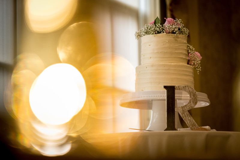 Wedding Cake with Bokeh - Weddings - Jeb McConnell Photography