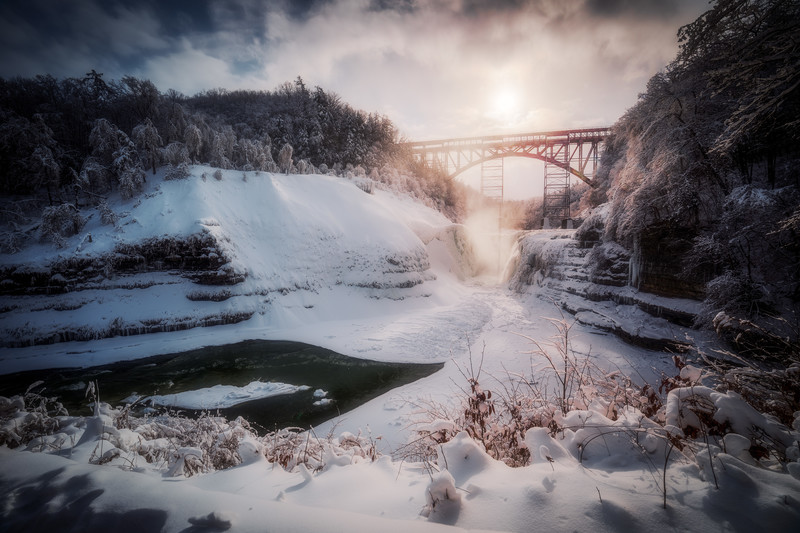 Frozen Waterfall at Letchworth State Park