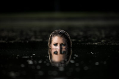 Model submerged in water