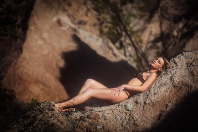 Outdoor lingerie Chimney Bluff State Park
