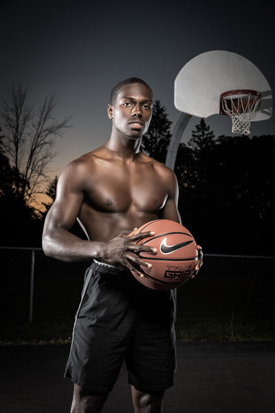 Nike basketball portrait with muscular man