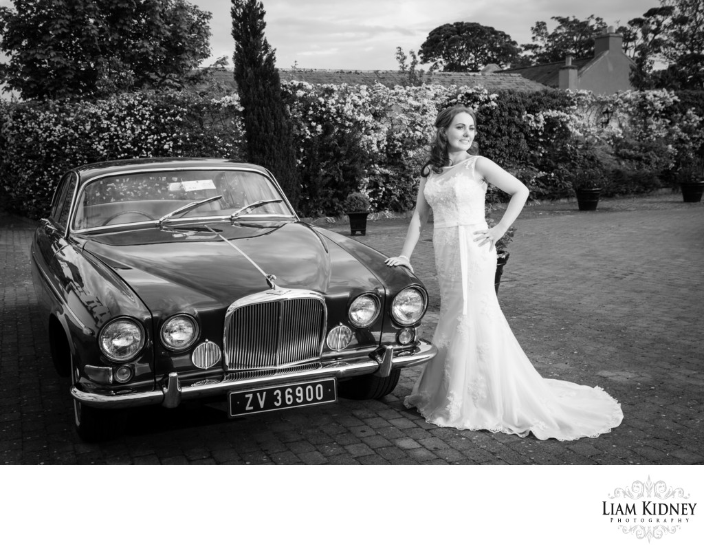 Bride and Car at Barbertown Castle