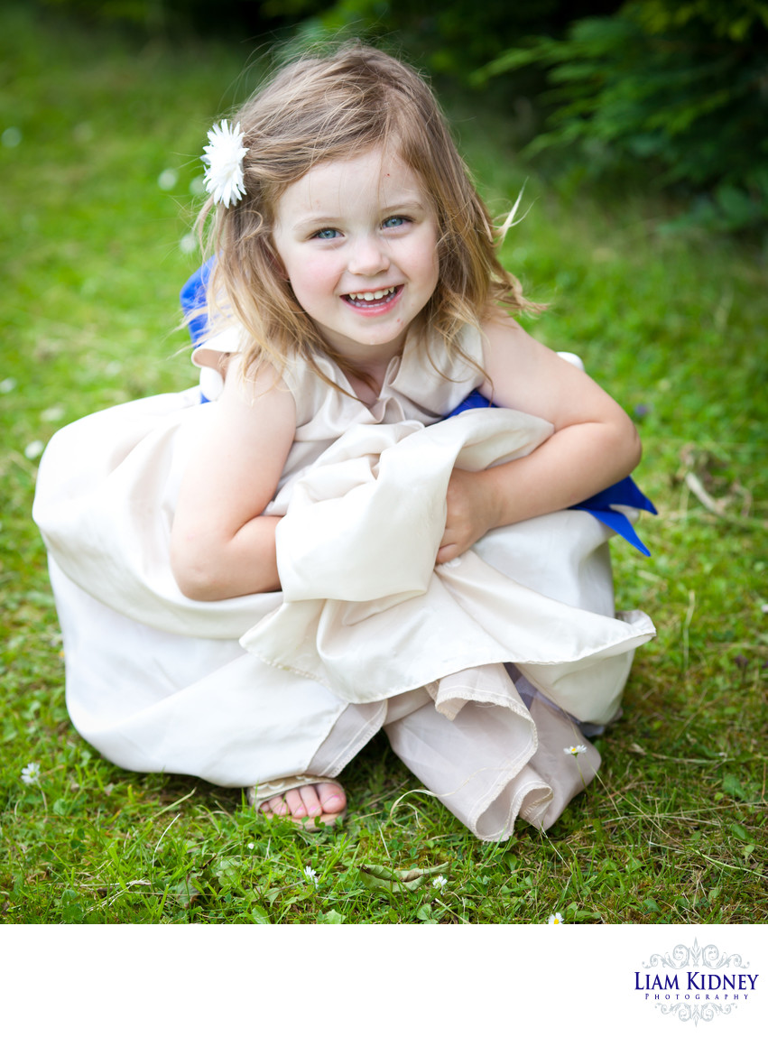 Beautiful Flower Girl at Cork Wedding