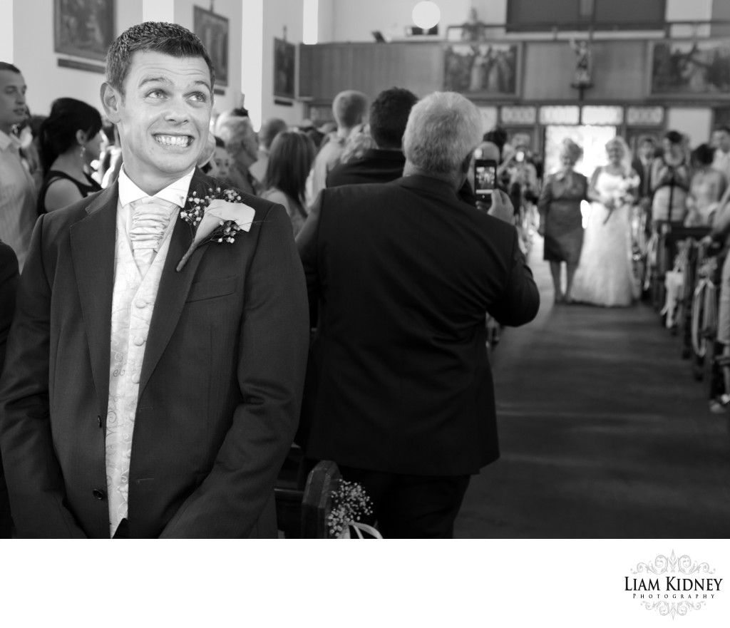 Nervous Groom at Cork Wedding