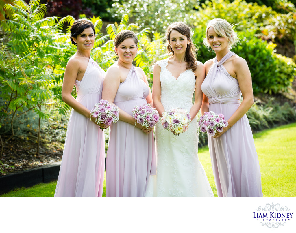 Athlone Bridesmaids at Summer Wedding