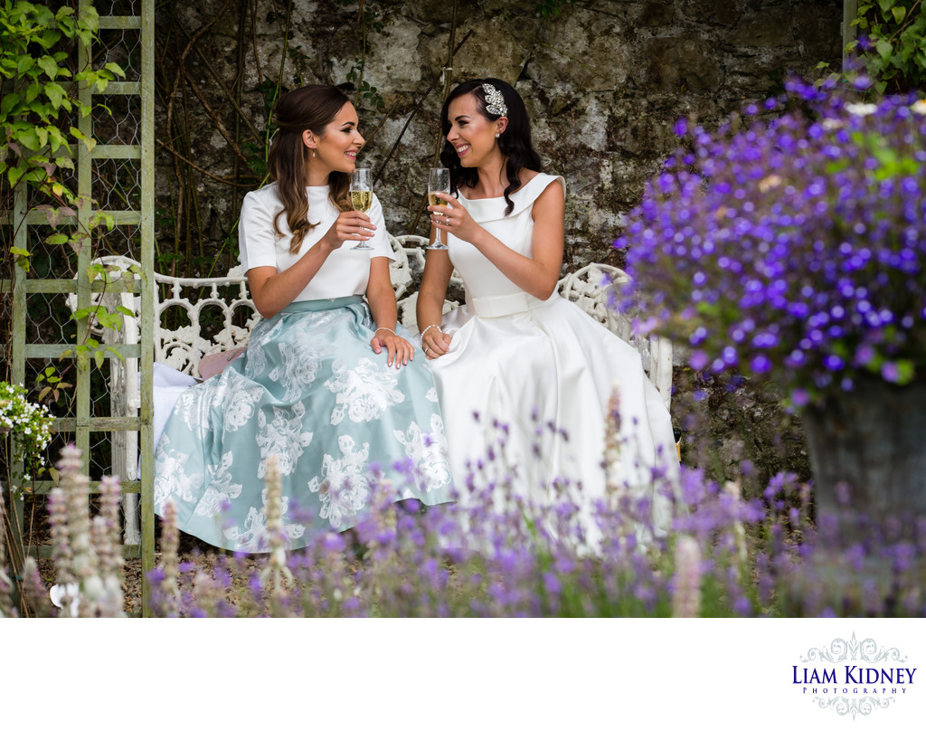 Bride and Sister at Castle Durrow