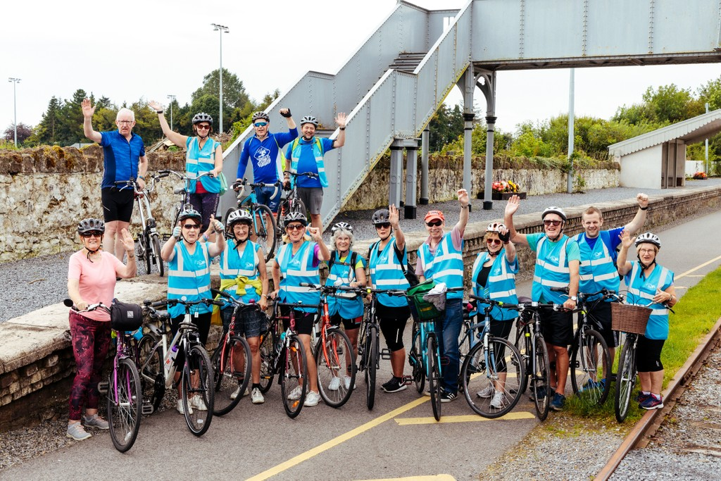 Group Photo of Cyclists for Westmeath Press