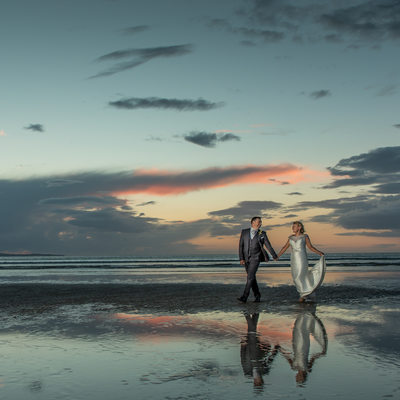 Sunset Wedding Photos on the Beach