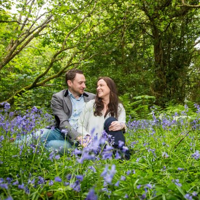 Portlick Woods Engagement Session in Blue Bells