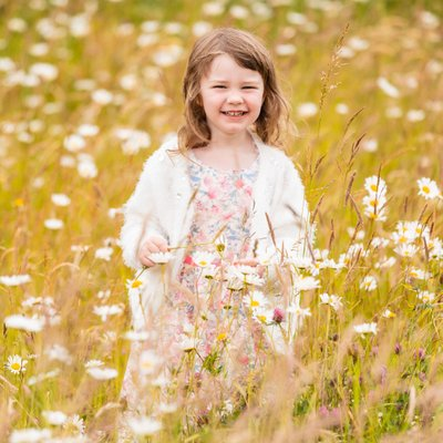 Portraits in a Flower Field