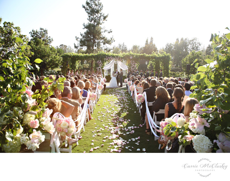 Rancho Bernardo Inn Wedding Ceremony Garden Photo