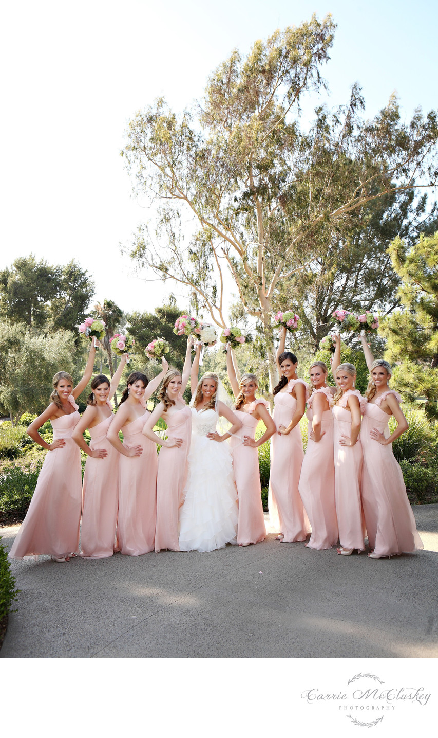 Best Photographer Bridesmaids at Rancho Bernardo Inn