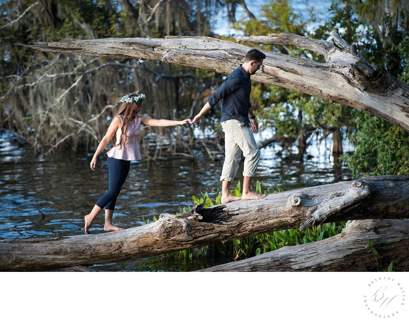 Engagement Photographer St Johns County Alpine Groves