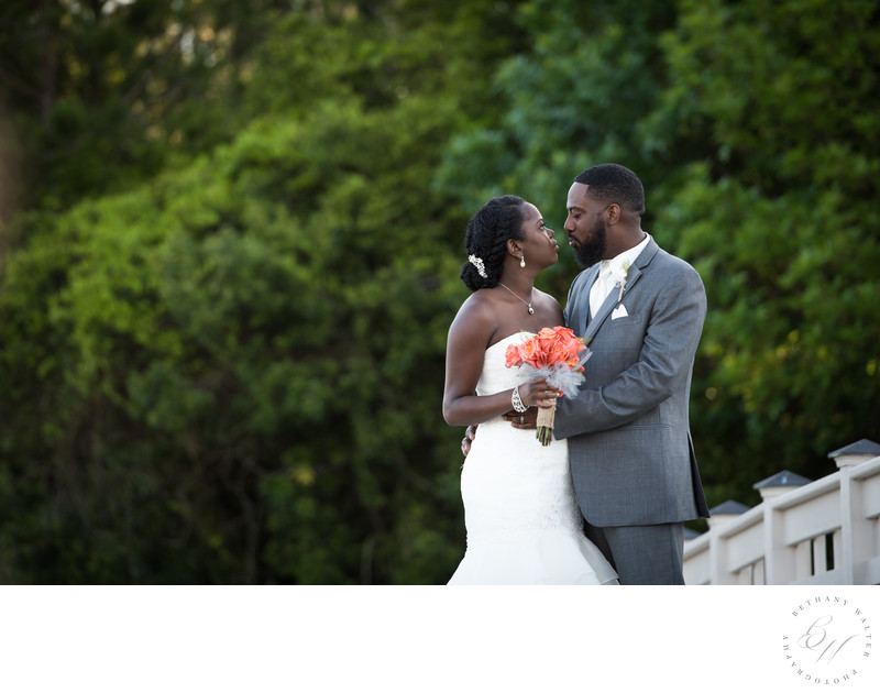 Bride and Groom at St Johns Golf and Country Club