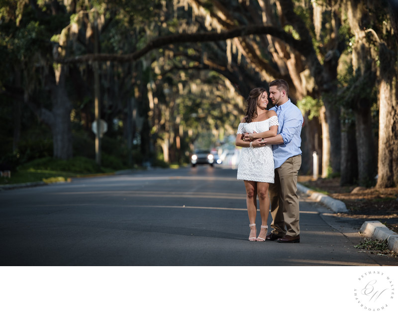 Couple Along Magnolia Avenue in St Augustine