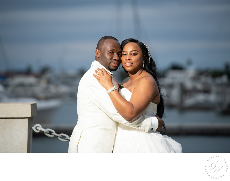 White Room Wedding Portraits by the Bay Front