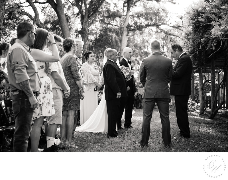 Fountain of Youth Wedding Ceremony in the Peacock Garden