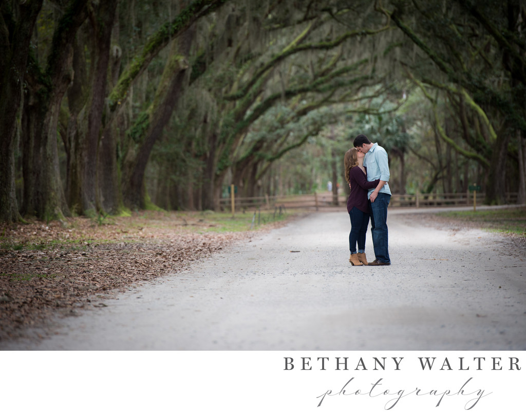 Wormsloe Historic Site Engagement Session Savannah