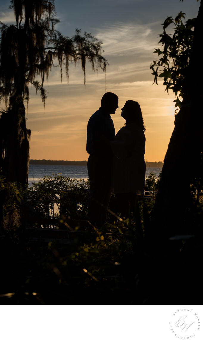 Couple at Sunset on the St Johns River