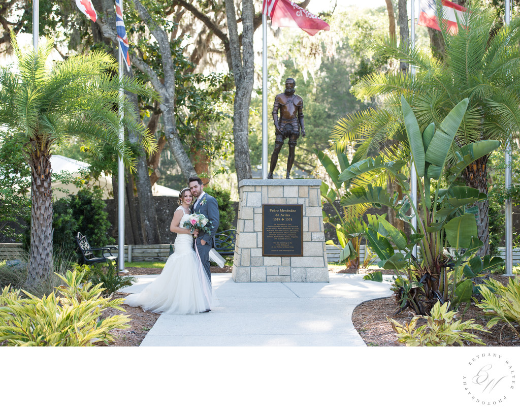 Newlyweds At The Fountain Of Youth Weddings Bethany
