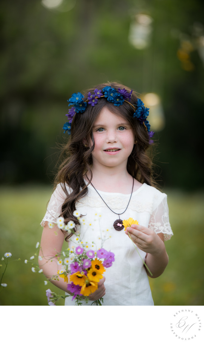 Child Portrait in Hampton Florida at The Flower Field