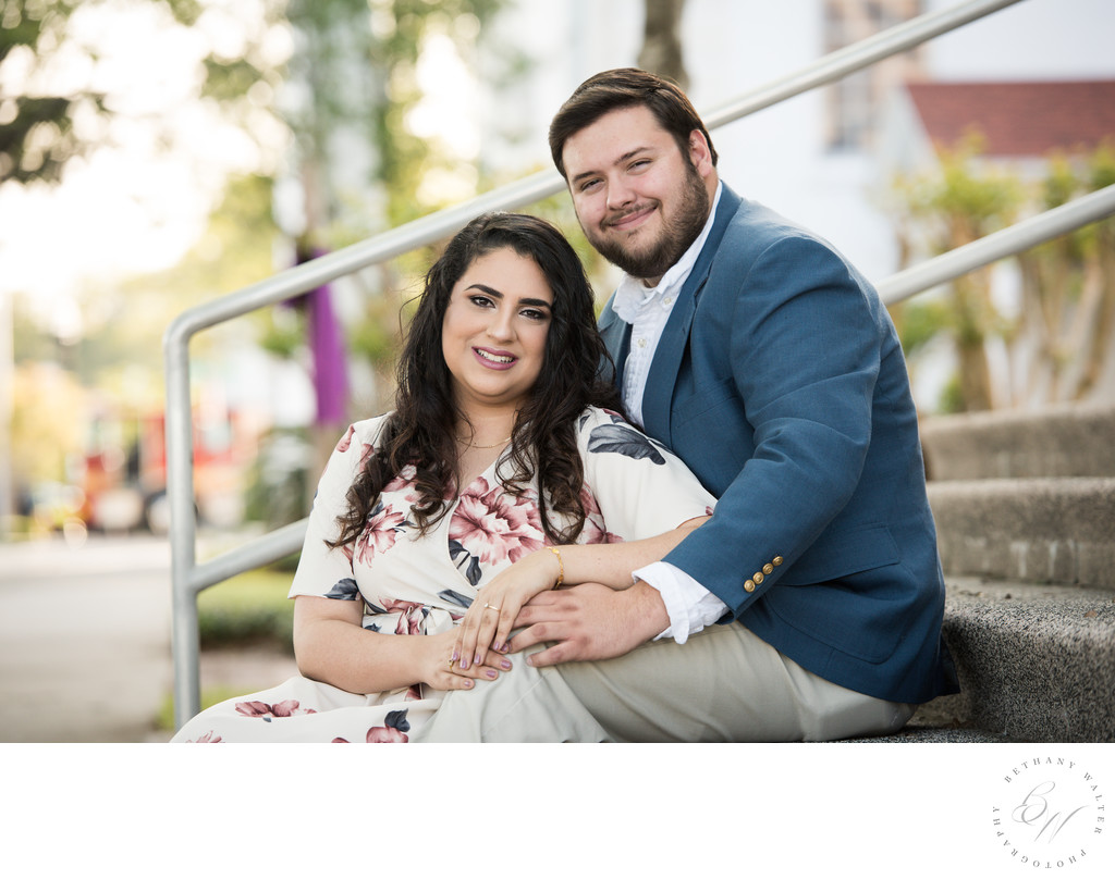 Engaged Couple for a San Marco Engagement Session
