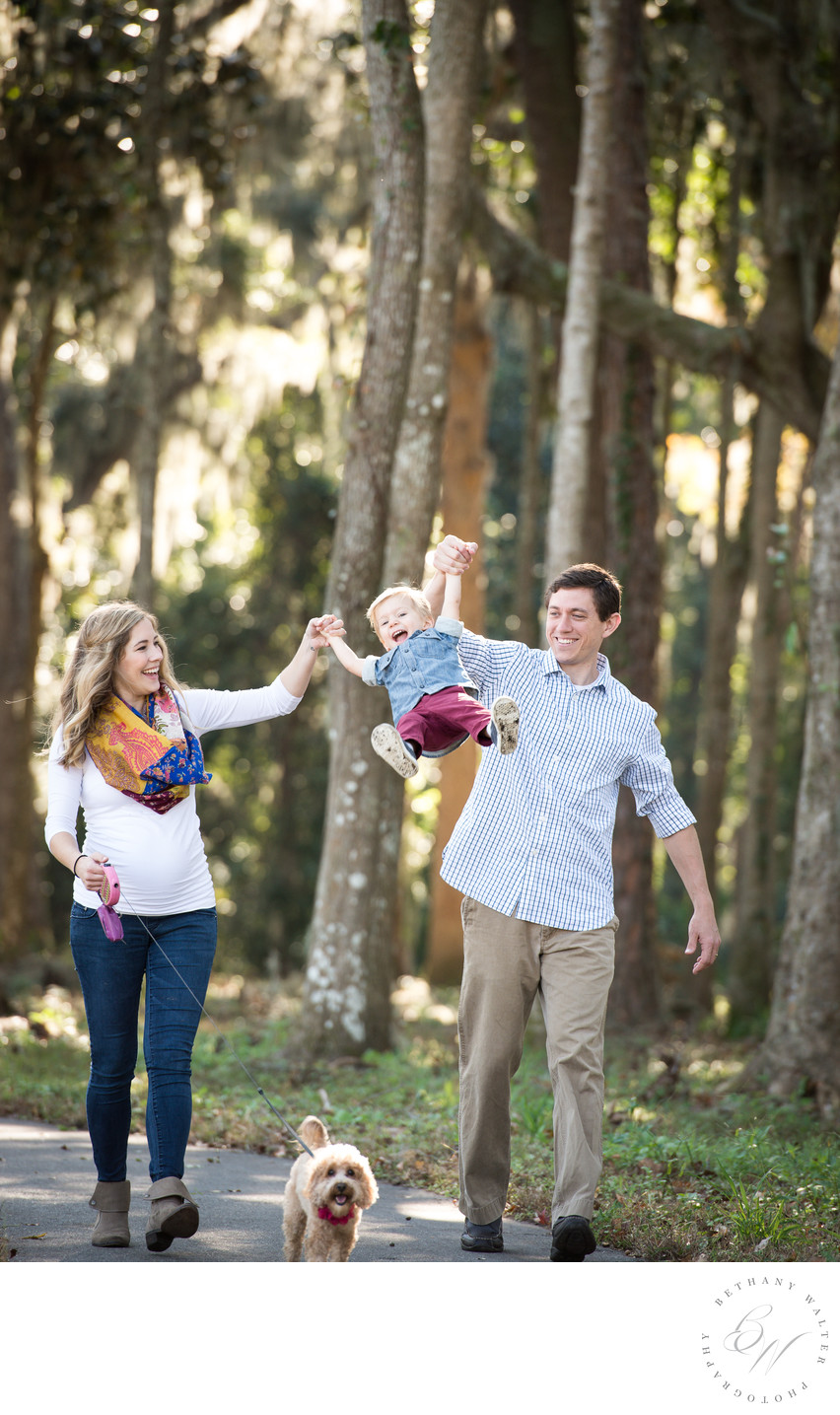 Maternity Family Session with Pup in St Johns County