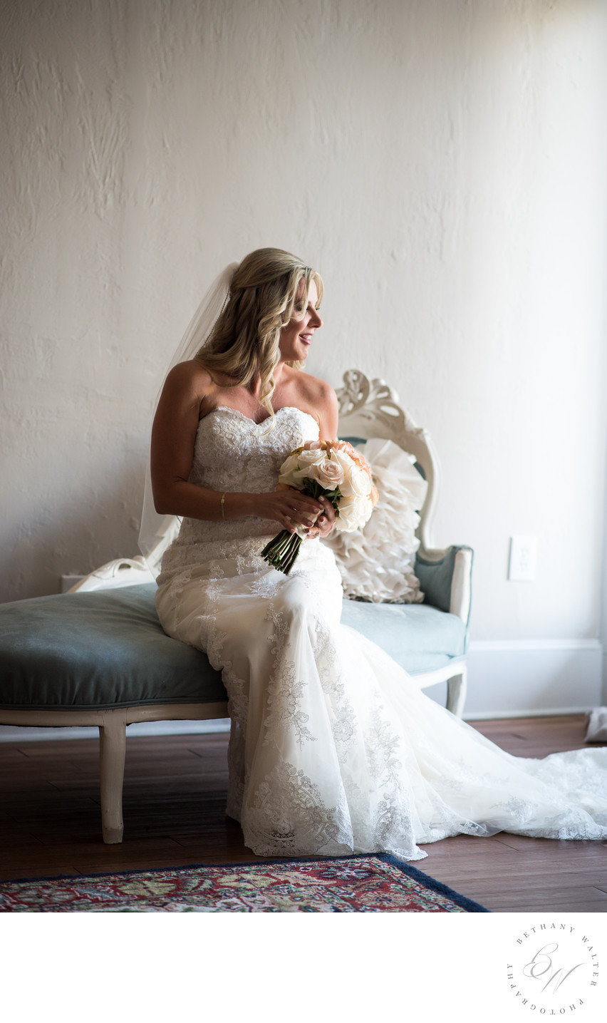 Bride in Bridal Suite at The White Room