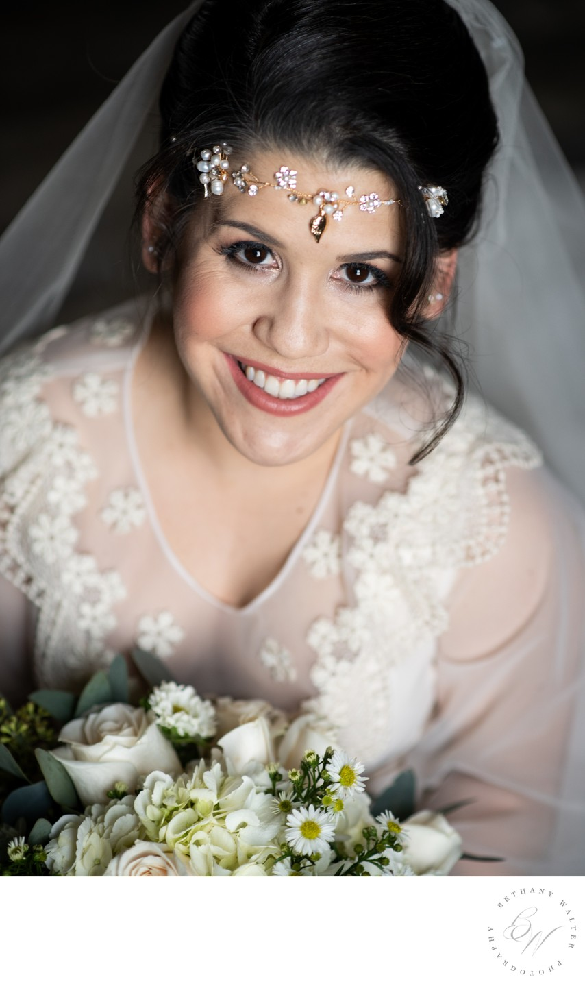 Bridal Portrait at Plantation Oaks Farm