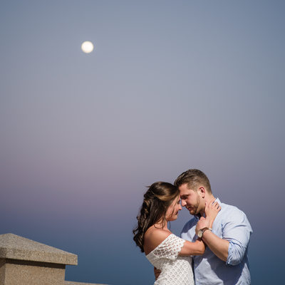 Couple in Love Along St Augustine Bayfront