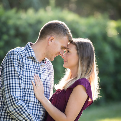 Engaged Couple at Washington Oaks in Palm Coast