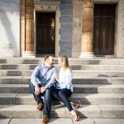Engaged Couple at Memorial Presbyterian Church
