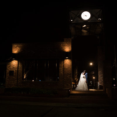 Couple After Their Wedding Reception in Dothan Alabama