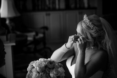 River House Bridal Portrait in the Library