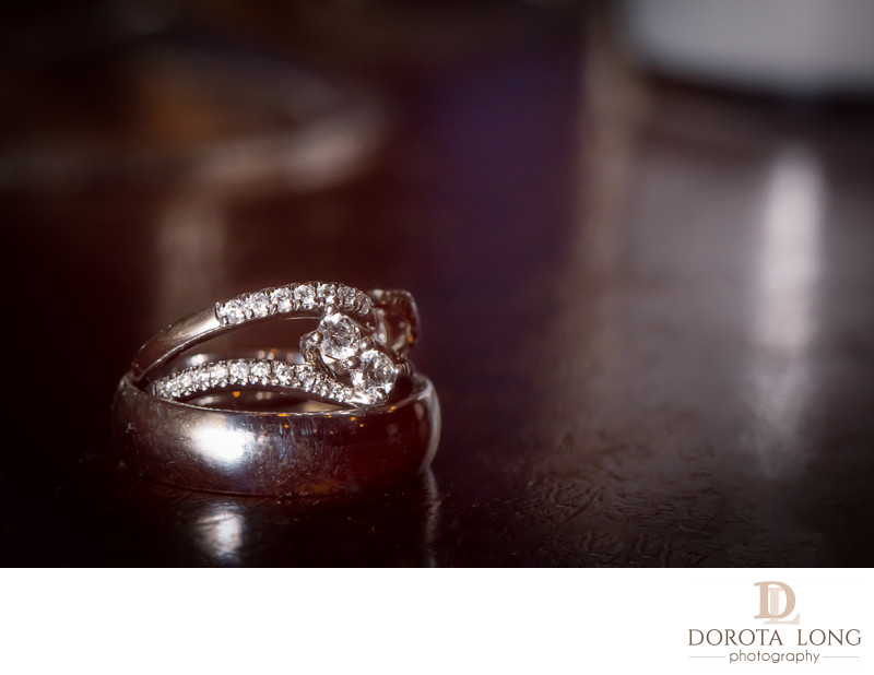 Ring shot reception at Ethan Allen wedding photographer