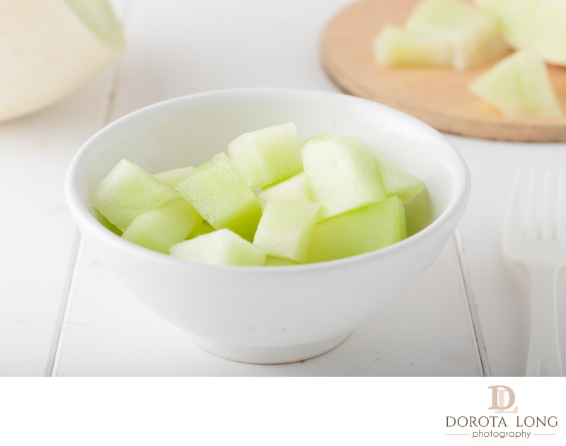 chopped honeydew melon