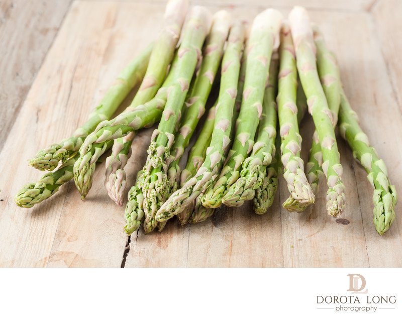 bunch of fresh ripe asparagus