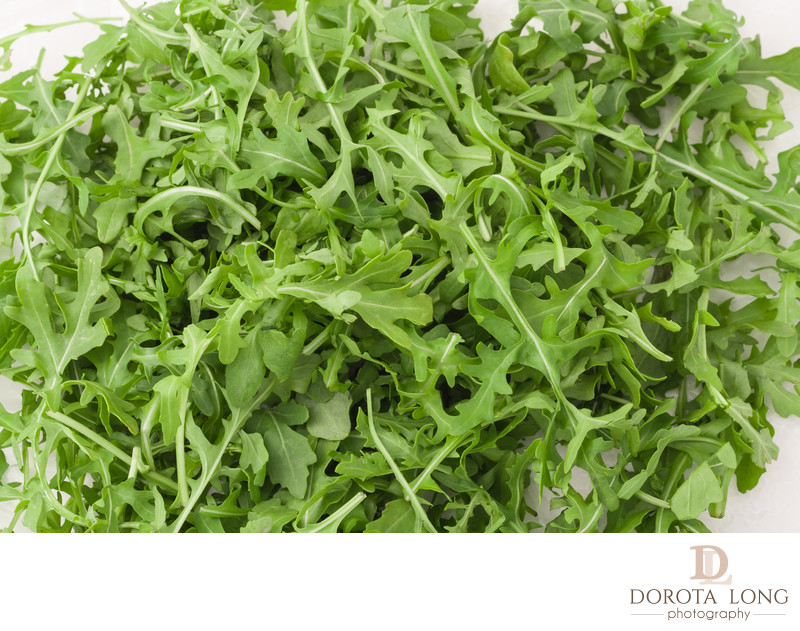 fresh arugula leaves