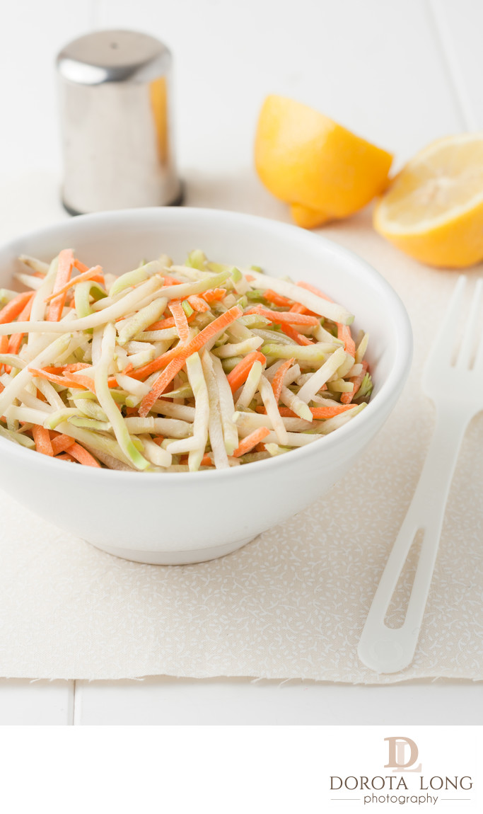 organic broccoli slaw and shredded carrots