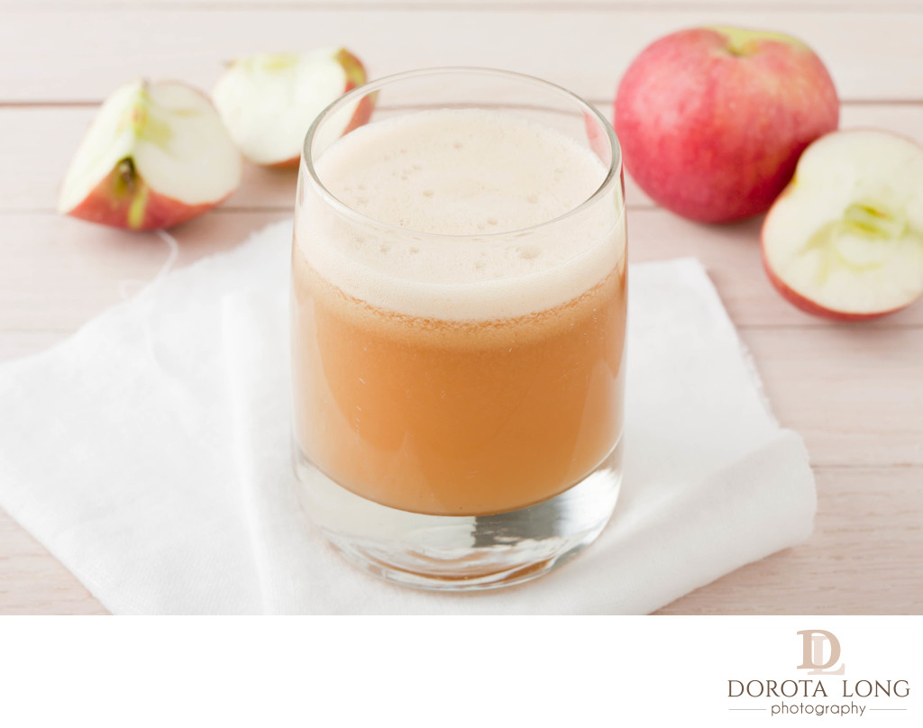 homemade fresh squeezed apple juice